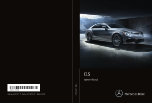 2015 Mercedes Benz CLS Operator Manual