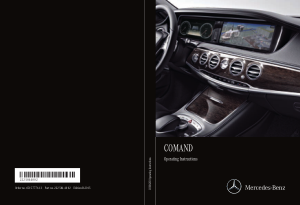 2015 Mercedes Benz S Class COMAND Operator Instruction Manual