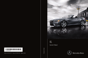2015 Mercedes Benz SL Operator Manual