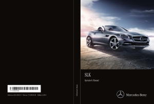 2015 Mercedes Benz SLK Operator Manual