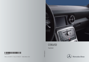 2015 Mercedes Benz SLS COMAND Operator Instruction Manual