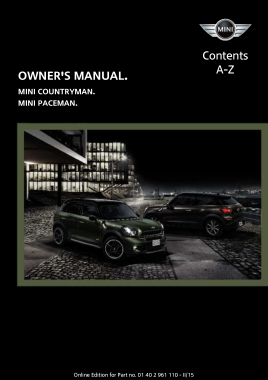 2015 Mini USA COUNTRYMAN Paceman Miniconnected Owners Manual