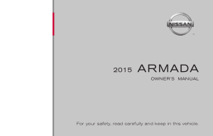 2015 Nissan Armada Owner Manual