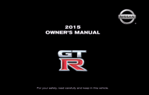 2015 Nissan GTR Owner Manual