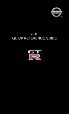 2015 Nissan GTR Quick Reference Guide