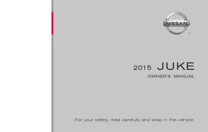 2015 Nissan JUKE Owner Manual