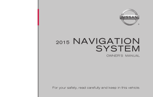 2015 Nissan Z COUPE 08IT Navigation Manual