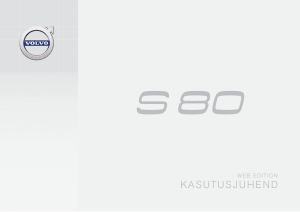 2015 Volvo S80 Owners Manual in Estonian