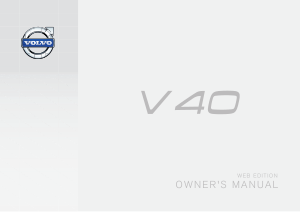 2015 Volvo V40 Owners Manual