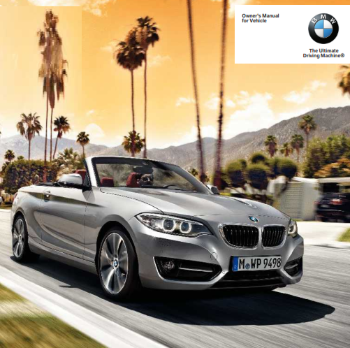 2015 Bmw 2 Series Convertible Owners Manual Free Download