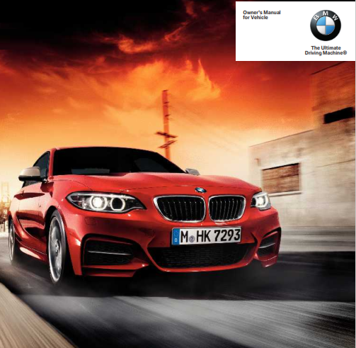 2015 Bmw 2 Series Coupe Owners Manual Free Download