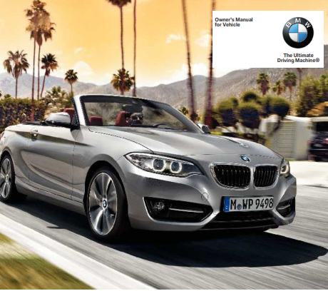 2015 Bmw 228i Xdrive Convertible Owners Manual Free Download