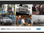 2015 Ford f-150 Quick Reference Guide Free Download