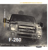 2015 Ford f-250 Owners Manual Free Download