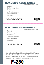 2015 Ford f-250 Roadside Assistance Free Download