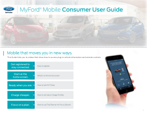 2015 Ford Fusion Energi Mobile Consumer User Guide Free Download
