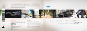 2015 Ford Fusion Energi Quick Reference Guide Free Download