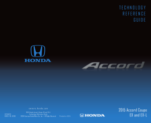 2015 Honda Accord Coupe Ex And ex-l Technology Reference Guide Free Download