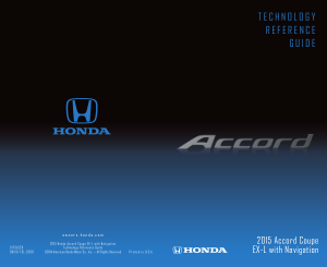 2015 Honda Accord Coupe ex-l With Navigation Technology Reference Guide Free Download