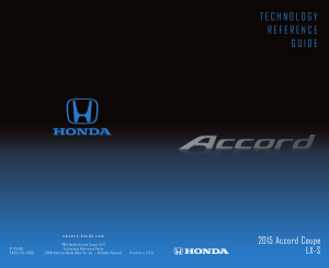 2015 Honda Accord Coupe lx-s Technology Reference Guide Free Download
