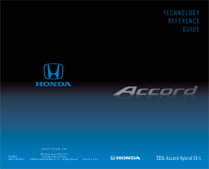 2015 Honda Accord Hybrid ex-l Technology Reference Guide Free Download