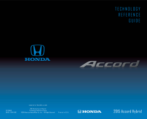2015 Honda Accord Hybrid Technology Reference Guide Free Download