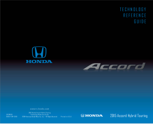 2015 Honda Accord Hybrid Touring Technology Reference Guide Free Download