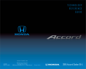 2015 Honda Accord Sedan ex-l Technology Reference Guide Free Download
