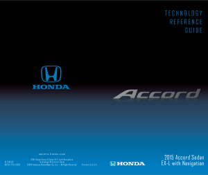 2015 Honda Accord Sedan ex-l With Navigation Technology Reference Guide Free Download