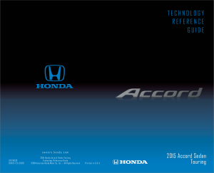 2015 Honda Accord Sedan Touring Technology Reference Guide Free Download