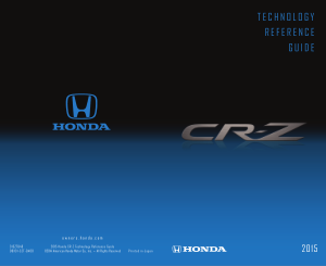 2015 Honda cr-z Technology Reference Guide Free Download