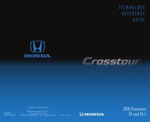 2015 Honda Crosstour Ex And ex-l Technology Reference Guide Free Download
