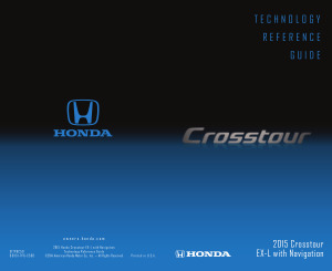 2015 Honda Crosstour ex-l With Navigation Technology Reference Guide Free Download