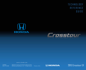 2015 Honda Crosstour Ex Technology Reference Guide Free Download