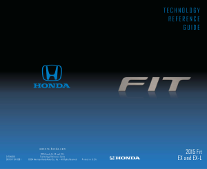2015 Honda Fit Ex And ex-l Technology Reference Guide Free Download