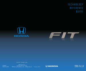 2015 Honda Fit Lx Technology Reference Guide Free Download