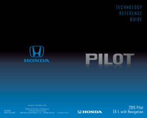 2015 Honda Pilot ex-l With Navigation Technology Reference Guide Free Download