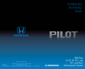 2015 Honda Pilot Lx Ex Se ex-l And ex-l With Rear Entertainment System Technology Reference Guide Free Download