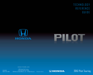 2015 Honda Pilot Touring Technology Reference Guide Free Download