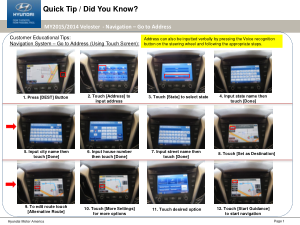 2015 Hyundai Veloster Goto Address Navigation System Quick Tips Manual Free Download