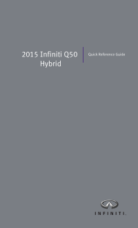 2015 Infiniti Usa q50 Hybrid Quick Reference Guide Free Download