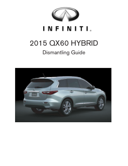 2015 Infiniti Usa qx60 Hybrid Dismantling Guide Free Download
