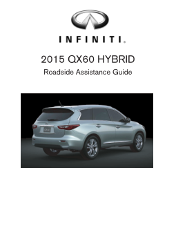 2015 Infiniti Usa qx60 Hybrid Roadside Assistance Guide Free Download