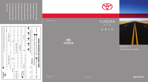 2015 Toyota Tundra Flexible Fuel Vehicle Warranty And Maintenance Guide Free Download