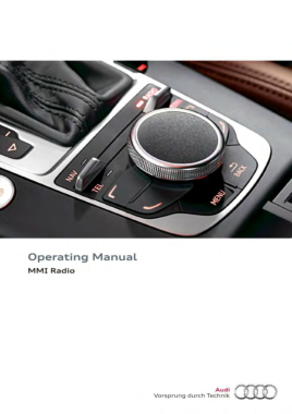 2016 Audi A3 S3 Owners Manual MMI Radio Manual