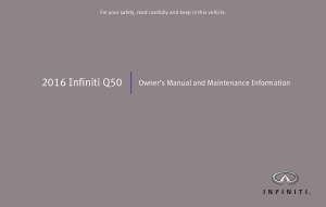 2016 Infiniti Q50 Owner Manual And Maintenance Info