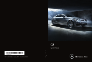 2016 Mercedes Benz CLS Operator Manual