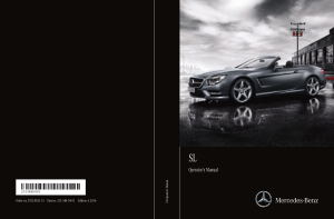 2016 Mercedes Benz SL Operator Manual