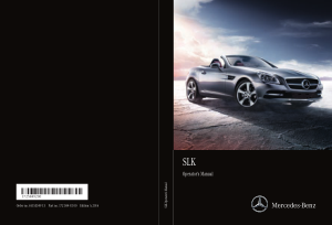 2016 Mercedes Benz SLK Operator Manual