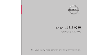 2016 Nissan JUKE Owner Manual